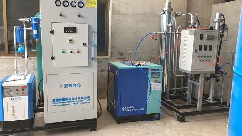河北高纯制氮机系统安装调试中